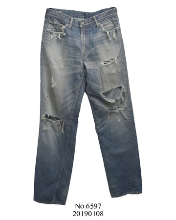 visvim / Crash Damage Denim Pants