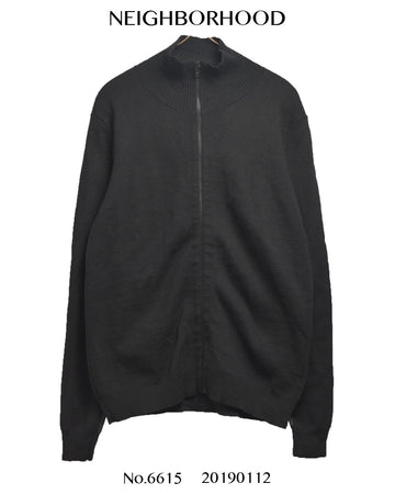 NEIGHBORHOOD / Black Zip up knit sweater