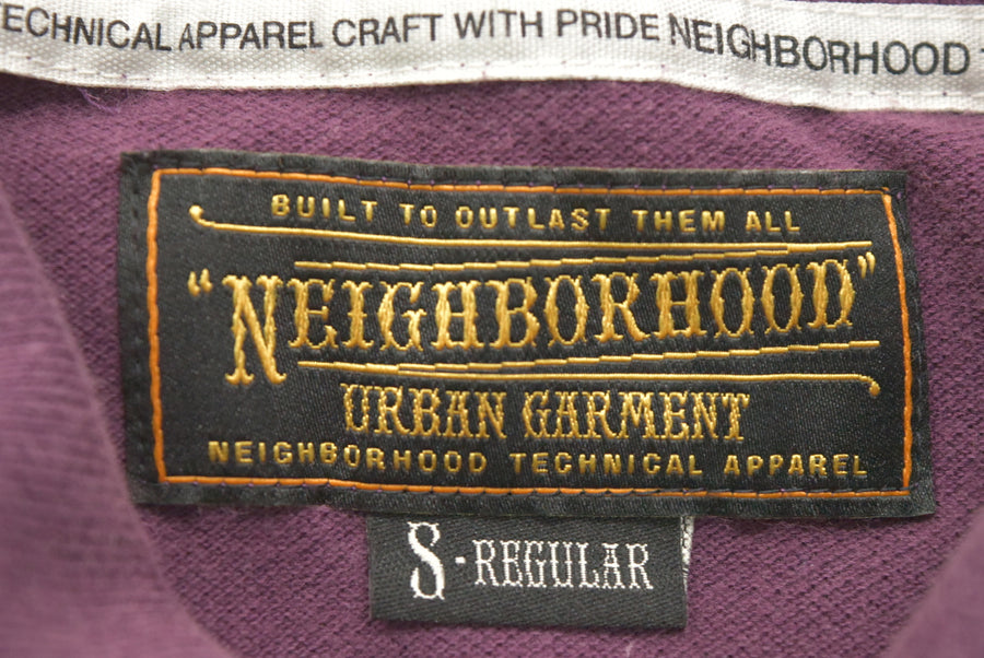 NEIGHBORHOOD / Burgandy Logo polo shirt