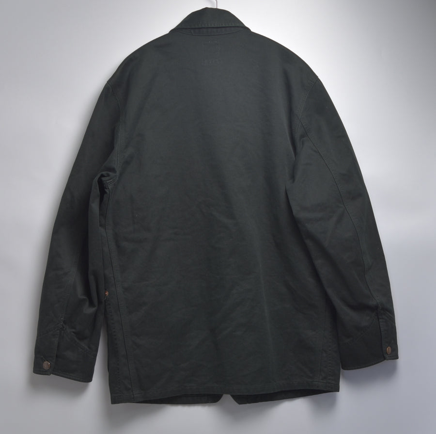 HOLLYWOOD RANCH MARKET / Black coverall work jacket