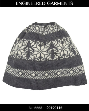 enginnerd garments / Nordic pattern knit cap beanie