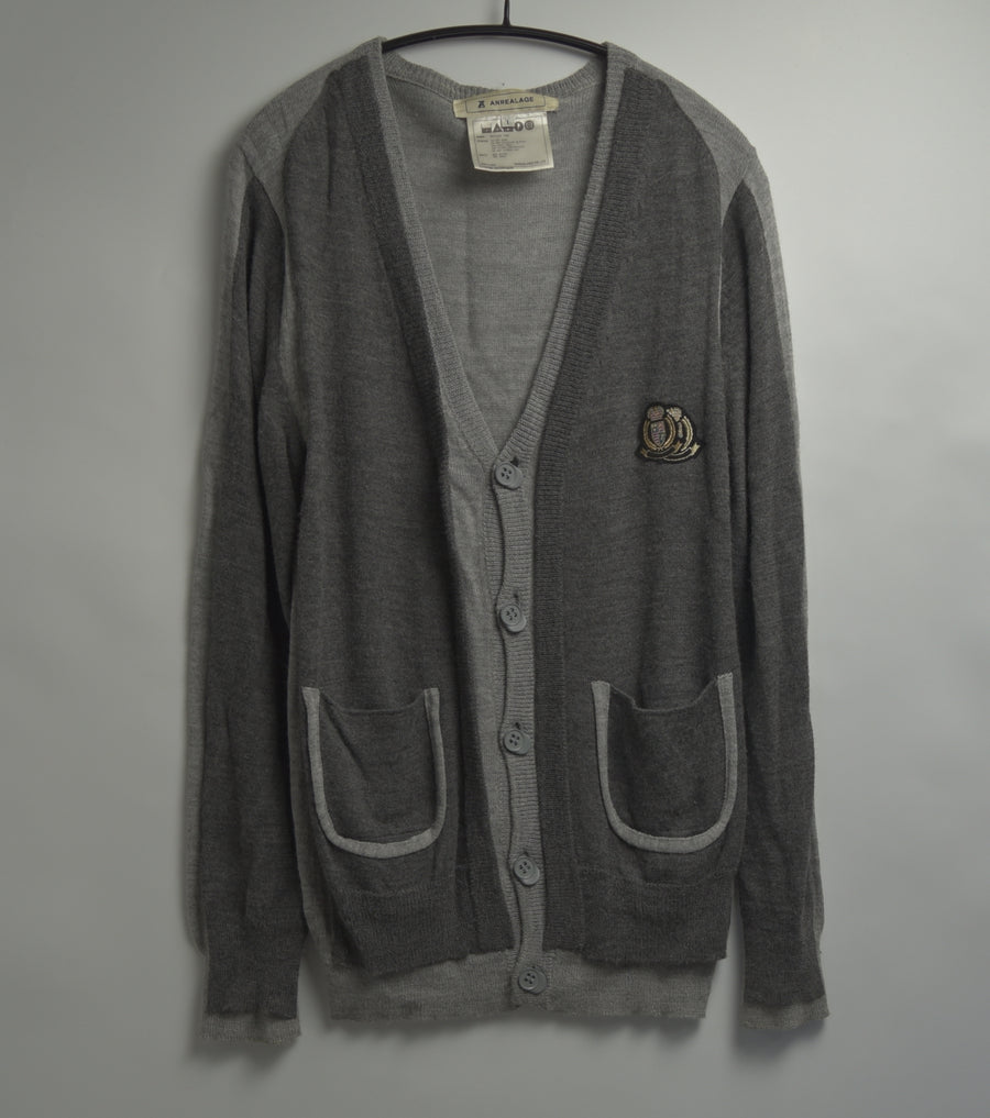 ANREALAGE / 12 AW [TIME] Cradigan sweater