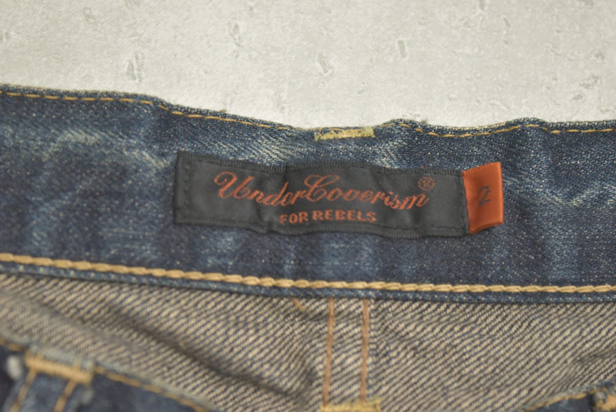 UNDERCOVER / But Beautiful Damage embroidery Denim pants