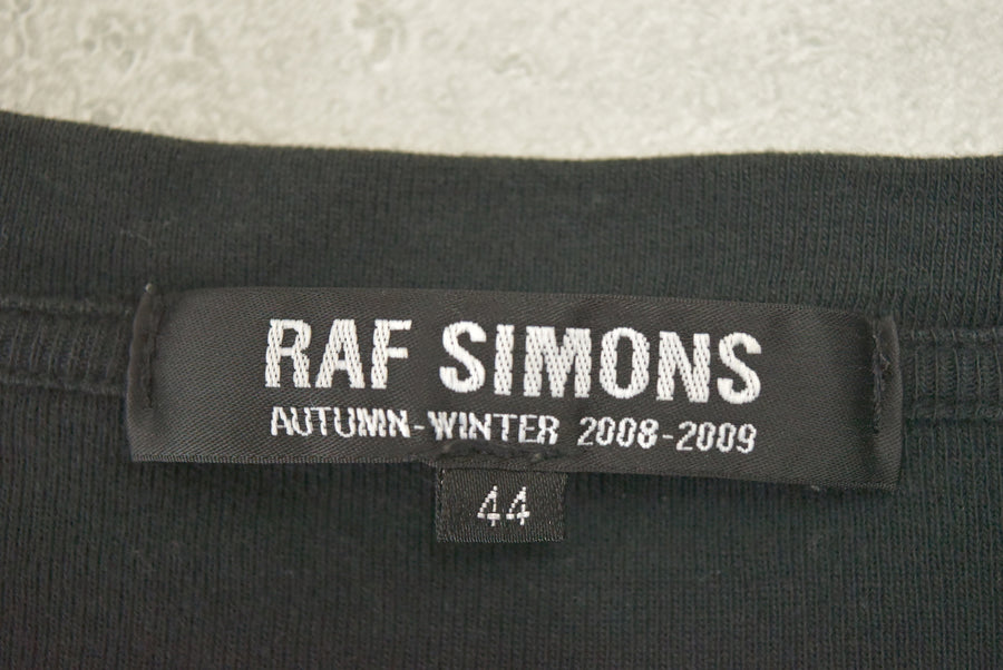 RAF SIMONS / 08AW Graphic Logo Crew Neck T-shirt
