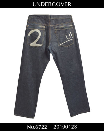 UNDERCOVER / NEU! Embroidered Zip Denim Pants