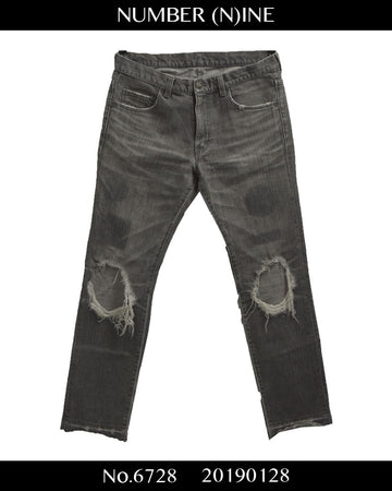NUMBER(N)INE / Damaged denim pants