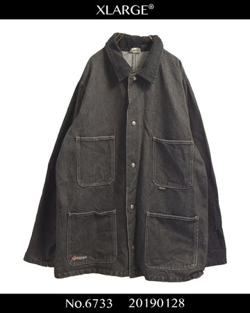 X Laege / Big Size Denim Coverall Jacket