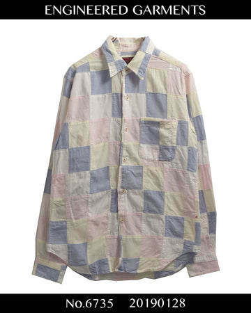 enginnerd garments / Patchwork shirt