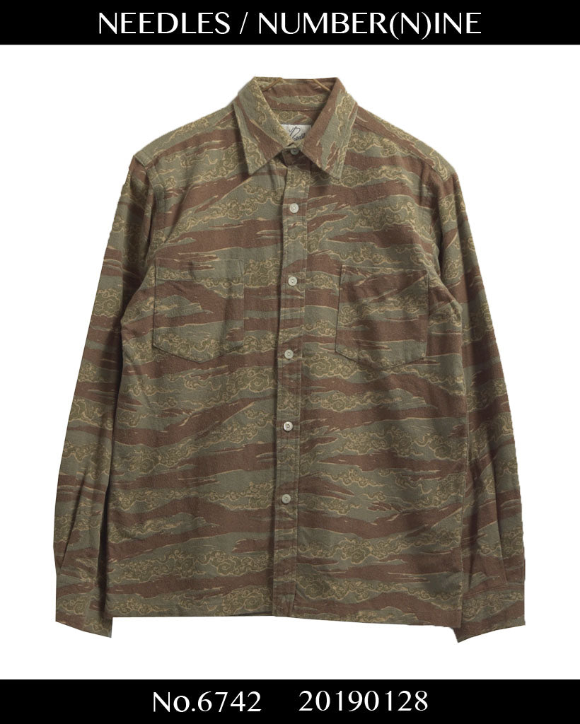 NEEDLES × NUMBER(N)INE / needles × NUMBER (N) INE Military Camo shirt