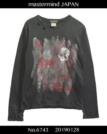 mastermind JAPAN / Damaged print cutsew