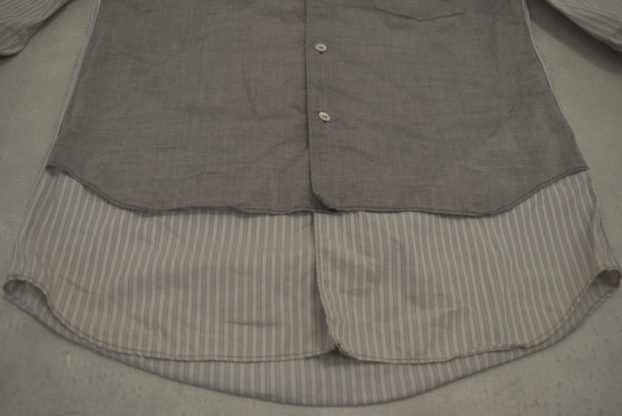 COMME des GARCONS HOMME PLUS / Layered striped shirt