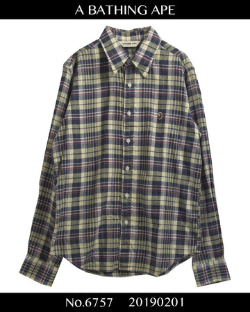 BAPE / Logo check shirt