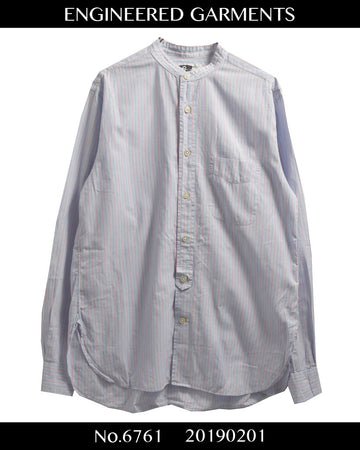 enginnerd garments / No collar striped shirt