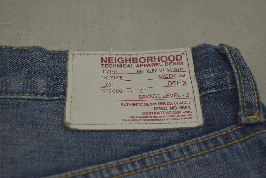 NEIGHBORHOOD / SAVAGE LEVEL - 2 Damaged Denim Pants