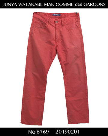 JUNYA WATANABE MAN COMME des GARCONS / Red denim pants