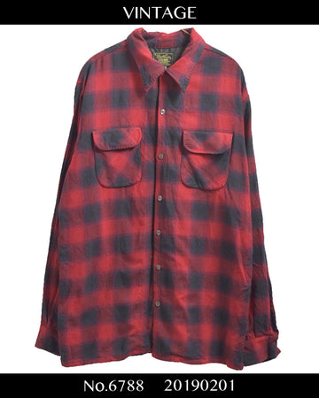 vintage / Long nel shirt