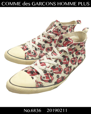 COMME des GARCONS HOMME PLUS / × The Rolling Stones Pointed Hi-cut Sneaker