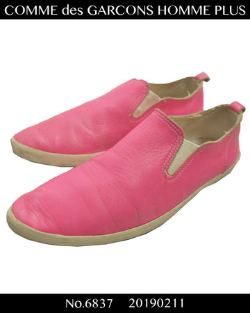 COMME des GARCONS HOMME PLUS / Pink Pointed Low-cut Sneaker