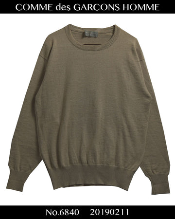 COMME des GARCONS HOMME / Beigh Crew Neck Sweater