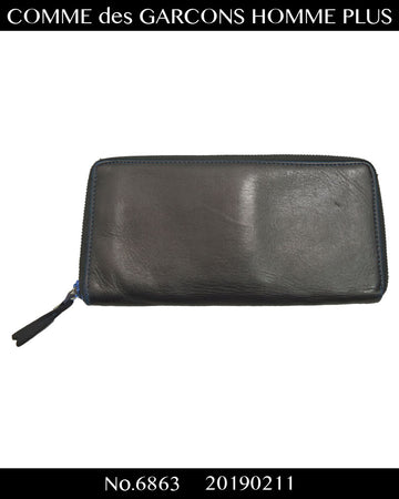 COMME des GARCONS HOMME PLUS / Black / Blue Leather wallet