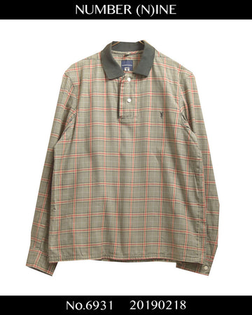 NUMBER(N)INE / Tartan Check Polo Shirt