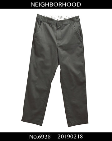 NEIGHBORHOOD / Black Work Pants
