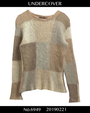 UNDERCOVER / Block Pattern Mohair Knit Sweater