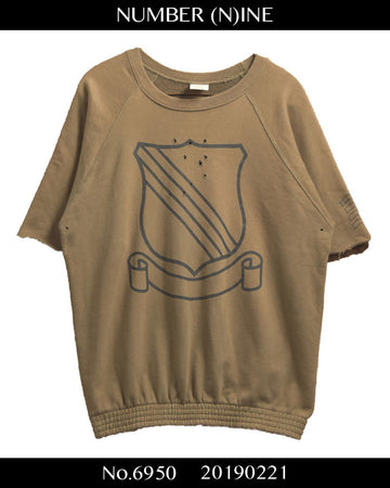 NUMBER(N)INE / << STANRARD >> emblem damage sweat shirt