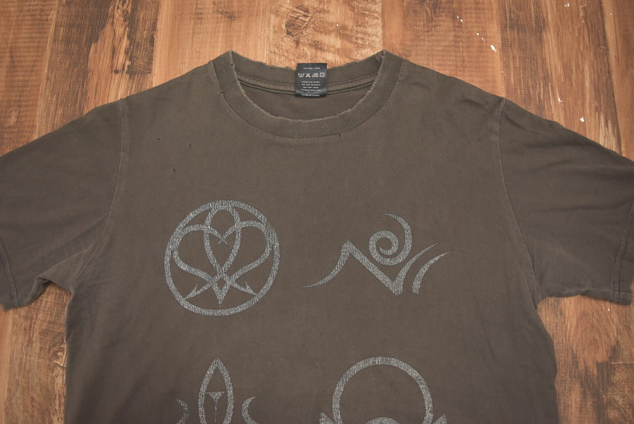 NUMBER(N)INE / Brown hieroglyphs cutsew