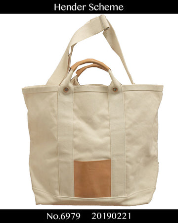 HENDER SCHEME / Big Canvas / Leather Tote Bag