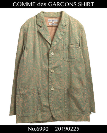 COMME des GARCONS SHIRT / Paint tailored jacket