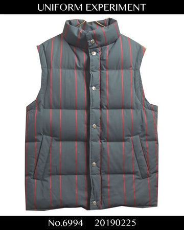 UNIFORM EXPERIMENT / Stripe down vest