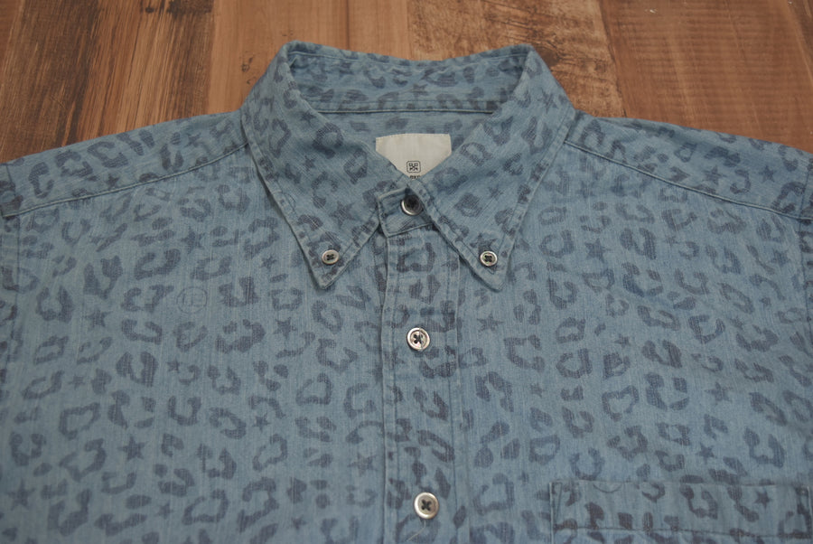 UNIFORM EXPERIMENT / Blue Leopard Shirt