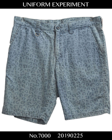 UNIFORM EXPERIMENT / Blue Leopard Short Pants