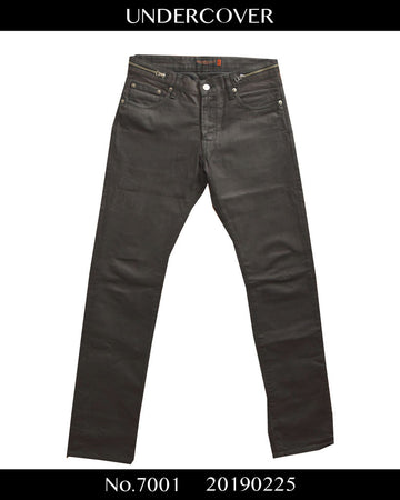 UNDERCOVER / Oiled Coating Zip Pants