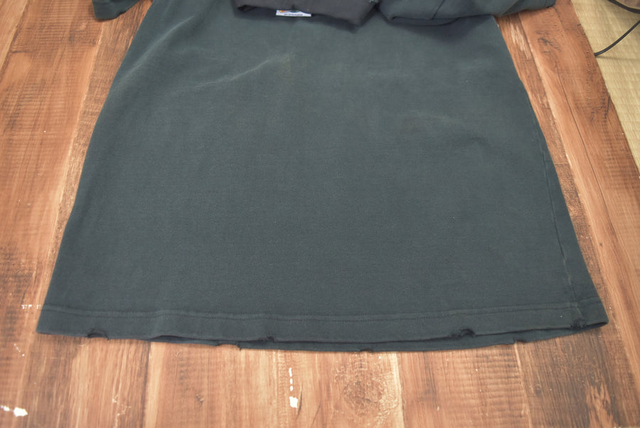 BARBARIAN / Black Damaged Polo Shirt