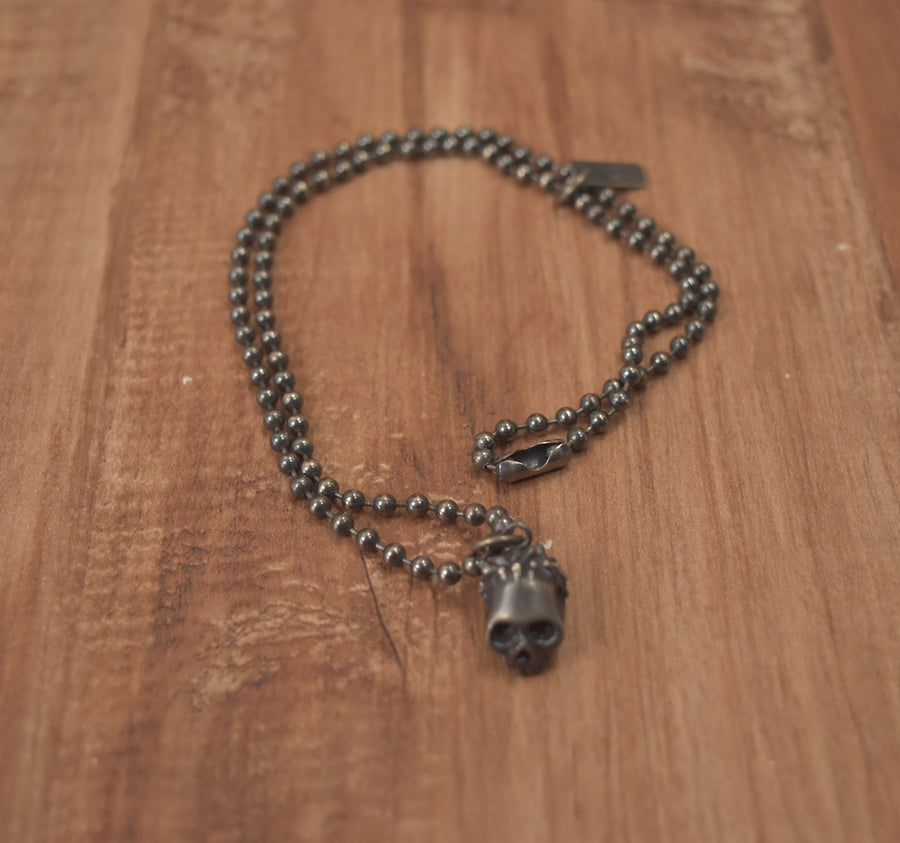 NUMBER(N)INE / Scull Head Silver Necklace