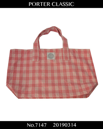 PORTER CLASSIC / Gingham Check Tote Bag