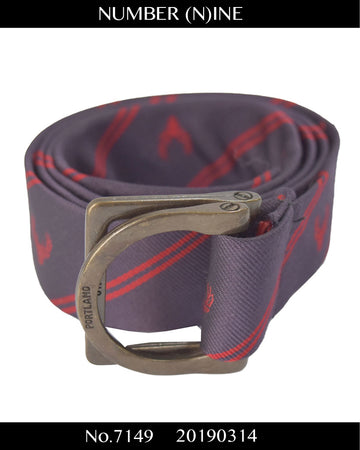 NUMBER(N)INE / Regimental Stripes Ring Belt