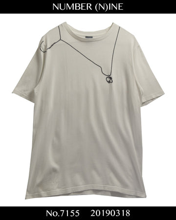 NUMBER(N)INE / Necklace Graphic Print Cutsew