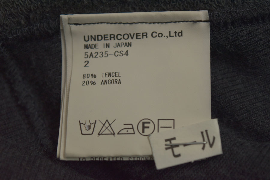 UNDERCOVER / Zip Sleeve Print Knit Sweater