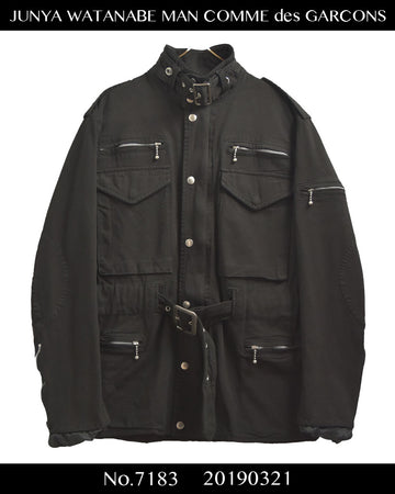 COMME des GARCONS JUNYA WATANABE MAN / Hybrid Military Riders Jacket