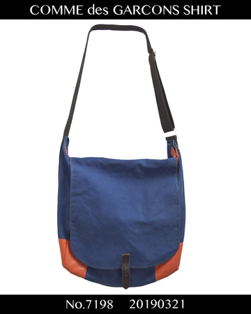 COMME des GARCONS SHIRT / Blue/Orange Shoulder Bag