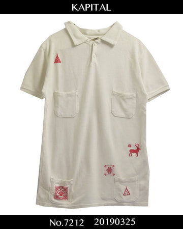 KAPITAL / Native Embroidary Polo Shirt