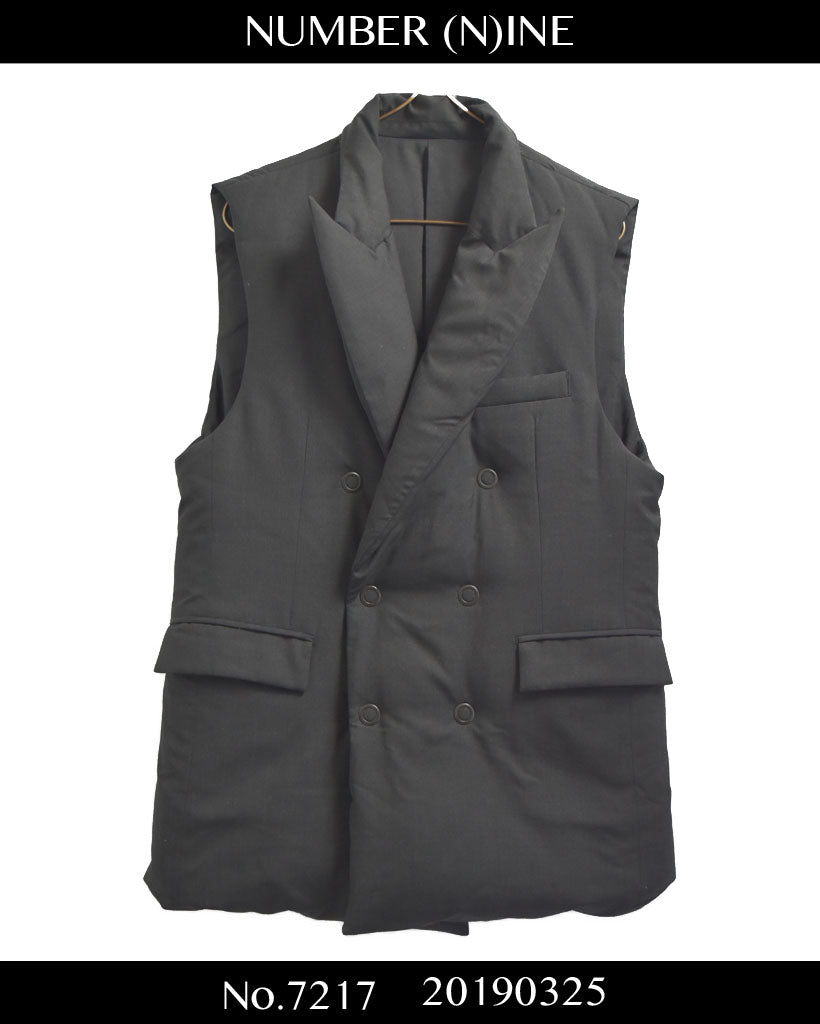NUMBER(N)INE / Tailored Down Vest Jacket