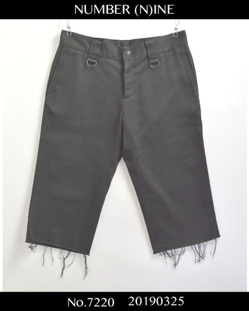 NUMBER(N)INE / 《Night Crawler》 Cutoff Short Pants