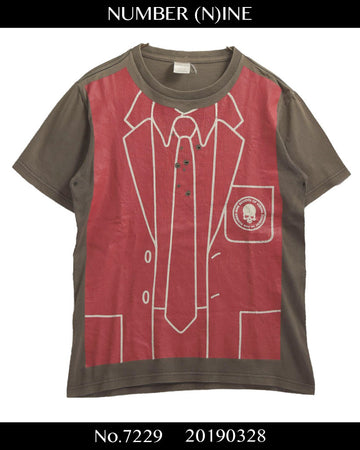 NUMBER(N)INE / Damaged Trompe loeil T-shirt