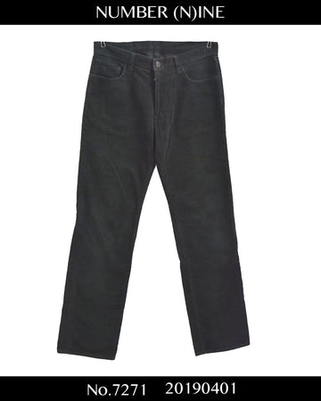 NUMBERNINE / Black Corduroy Pants