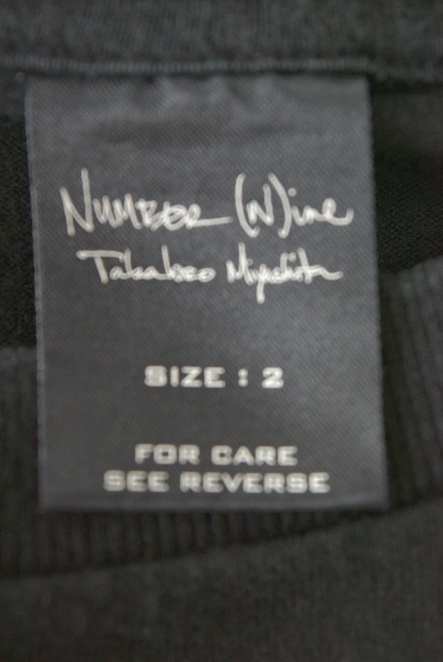 NUMBERNINE / 《 The High Streets 》 Black Tour T-shirt / 7314 - 0404 53