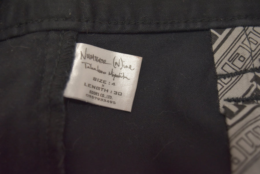NUMBERNINE / Black Skinny Pants / 7319 - 0408 83.8